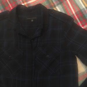 Sanctuary Sheer Plaid Blouse